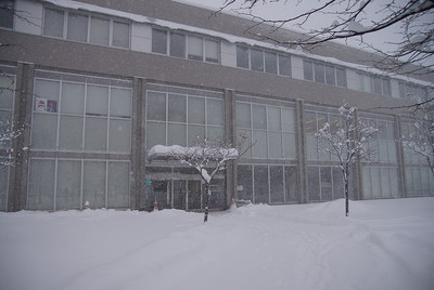 会場となった札幌市産業振興センター当日の写真。朝から札幌は記録的な大雪となった