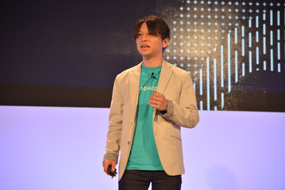 最初のゲストスピーカーとなった安川氏。キーノート後「最高の舞台に立てた」と嬉しそうでした。