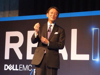 写真2 EMCジャパン(株)代表取締役社 長大塚俊彦氏