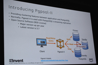 11月にリリースされたPgpool-II 3.7では約束通りにAuroraサポートが実現,Auroraでのリードレプリカの負荷分散が可能に