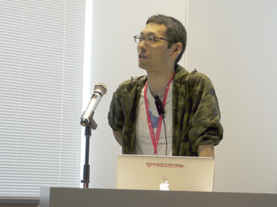 Fluentd v1.0の新機能を紹介する中川真宏氏