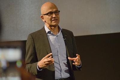 米Microsoft サティア・ナデラCEO