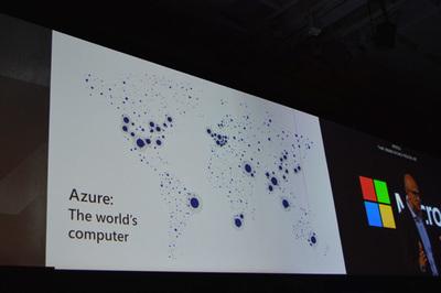 世界54カ所にあるAzureリージョン。数に関してはAWSを上回る