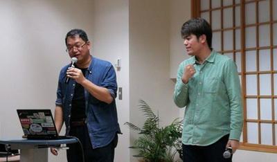 小笠原徳彦さん(左)と宮田晃佳さん(右)