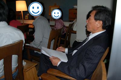 会場には,スピーカー3人の勤める永和システムマネジメントの小山公一郎社長もいました。普通に参加費の千円を払って,しかも福井から!