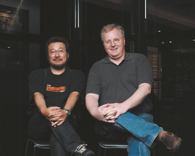 (右)Dave Thomas氏,(左)小飼弾氏(撮影:武田康宏)