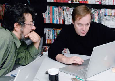 右:Jason Calacanis氏,左:小飼弾氏(撮影:武田康宏)