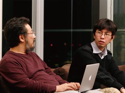 右:森田創氏,左:小飼弾氏(撮影:武田康宏)