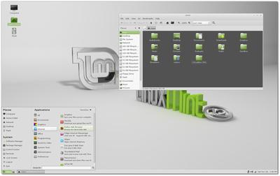 Linux Mint 12 MATEの画面