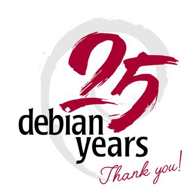 debian 25周年記念アート(「Bits from Debian」より)