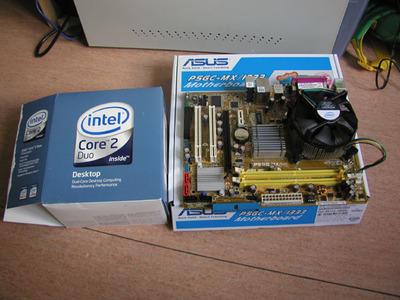 新規導入したCore2 Duo 6550とASUSのマザーボード