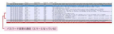 図5 LDAP認証によるパスワード変更時(失敗)の通信