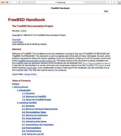 図1 FreeBSD Handbook