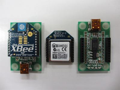 写真1 XBee ZBとXBeeエクスプローラUSB