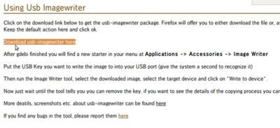 図1 USB Image Writerのダウンロード