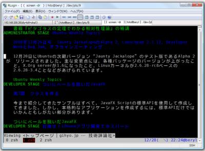 図2 RLoginの画面