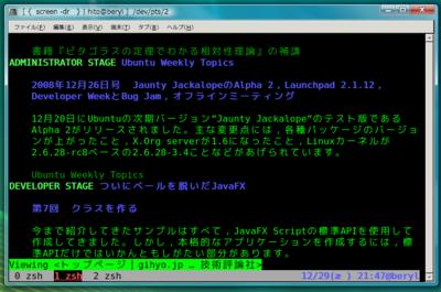 図5 Windows上でgnome-terminalを使う
