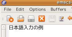 図2 日本語を入力した例