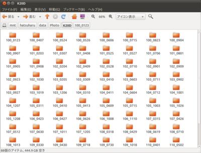 図1 「どうしてこんなになるまで放置してたんだ!」と言いたくなるほど,ひどい状態な筆者のファイルサーバ(の一部)。ちなみに玄箱ProとDebian Lennyで動作している