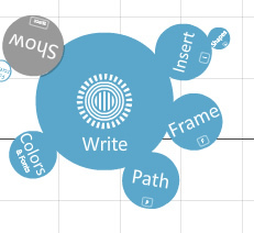図5 リング状に配置されたメニューをクリックして,各種操作を行う