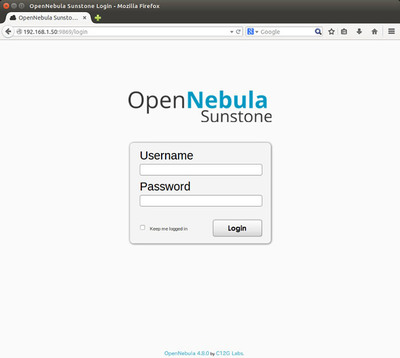 図11 OpenNebula Sunstoneログイン画面
