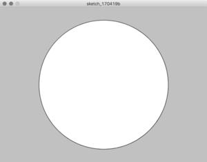 図3 プログラムを実行すると,円が表示される