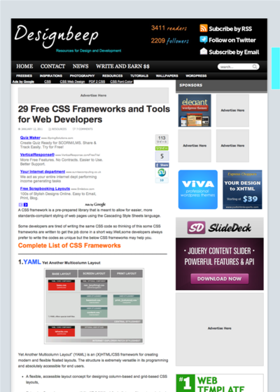 図3 CSSフレームワークをまとめて紹介