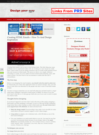 図1 HTMLメールを作るためのテクニックとギャラリー