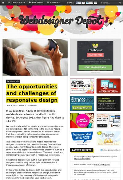 図1 レスポンシブWebデザインがもたらすものと課題について