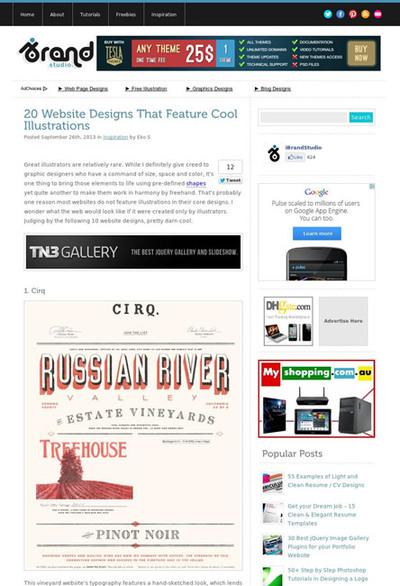 図5 イラストが使われたWebデザインのギャラリー