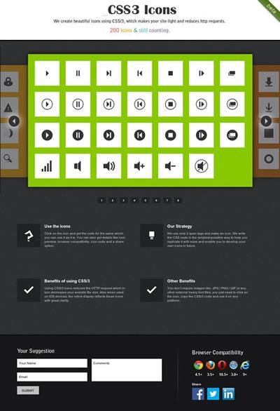 図2 CSSだけで作られたアイコン集
