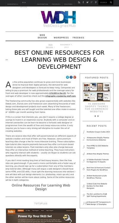 図3 Webデザインに関して学べるサイトいろいろ