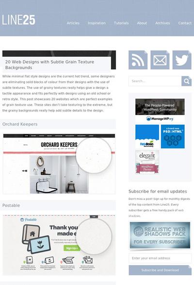 図4 布や紙のようなテクスチャを使ったWebデザインのギャラリー