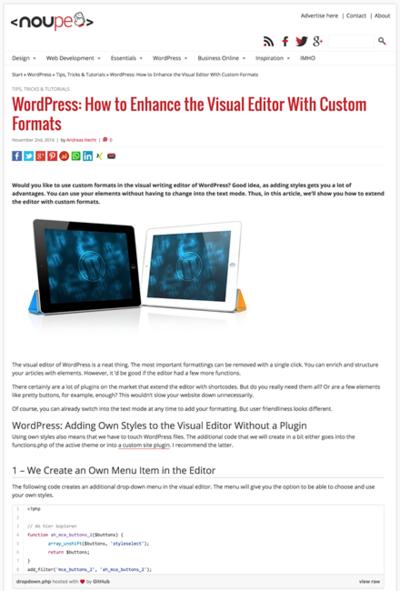 図5 WordPressのビジュアルエディタをプラグインを使わず拡張する方法