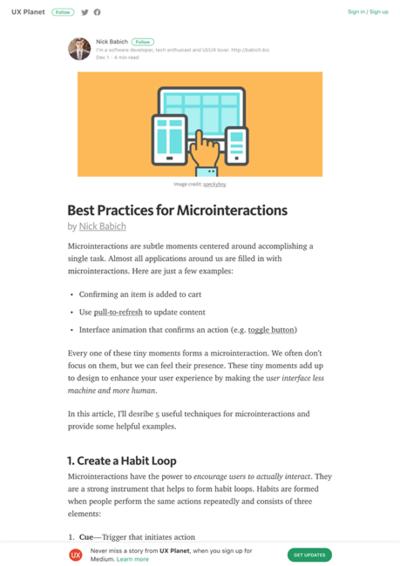 図1 マイクロインタラクションのための5つのテクニック