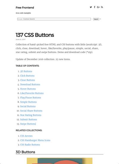 図3 CSSボタンのコーディング例を大量に紹介
