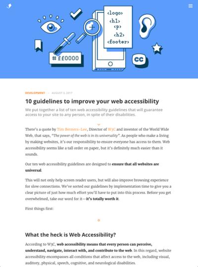 図1 ウェブアクセシビリティを向上させるための10のガイドライン