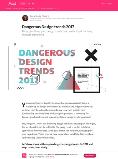 図2 UXを損なうかもしれない危険なデザイントレンド