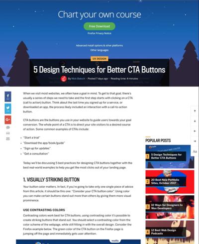 図1 良いボタンを作るための5つのテクニック
