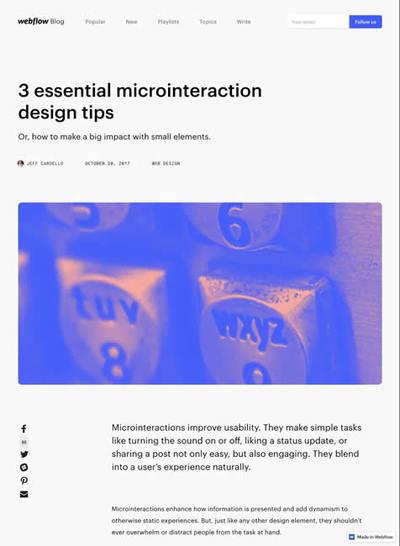 図3 マイクロインタラクションをデザインするヒント