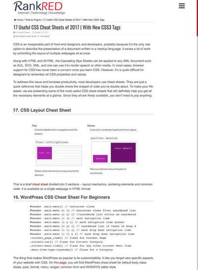 図5 CSSのチートシートまとめ