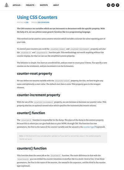 図3 CSSカウンタの使用例