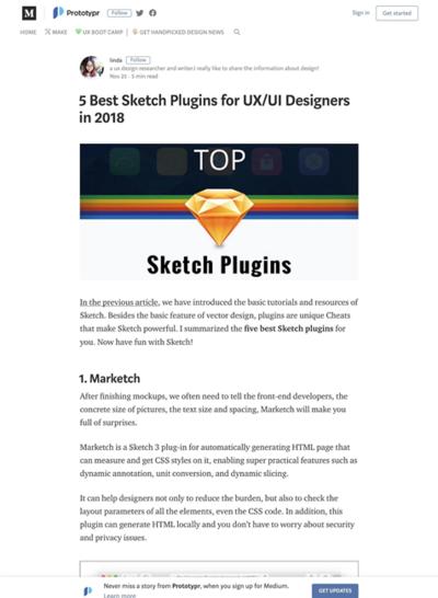 図5 UX/UIデザインに役立つSketchのプラグイン5つ