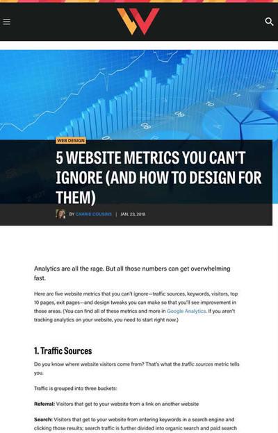 図1 ウェブページを評価する上での5つの指標とデザイン改善案