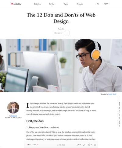 図1 ウェブデザインのためにやるべきこと,やってはいけないこと
