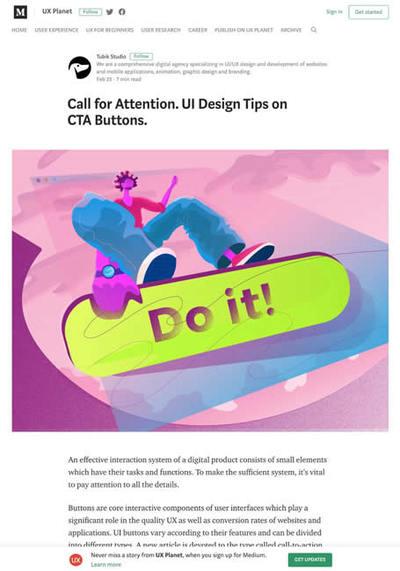 図3 アクションを促すボタンデザインのヒント