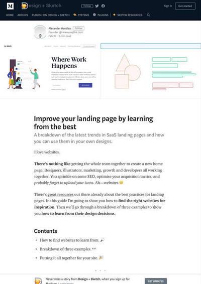 図1 良い事例から学ぶランディングページを改善するためのヒント