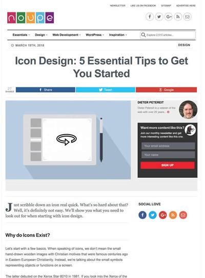 図2 アイコンデザインに不可欠なテクニックを5つ