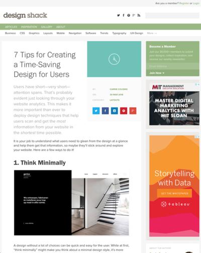 図1 ユーザーの時間を奪わないためのウェブデザインのヒント