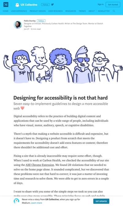 図3 アクセシビリティを考慮してデザインするためのヒント